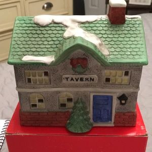 Porcelain Christmas Display Tavern House with Box